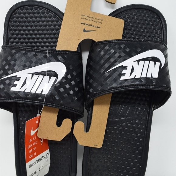 super popular 04aab 3a095 NIKE WOMENS BENASSI JDI SLIDE 343881-011 SANDALS